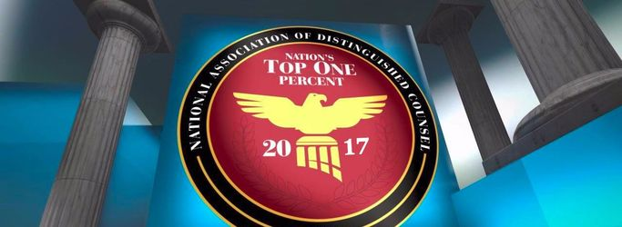 2017 List National Association of Distinguished Counsel Nation's Top One Percent