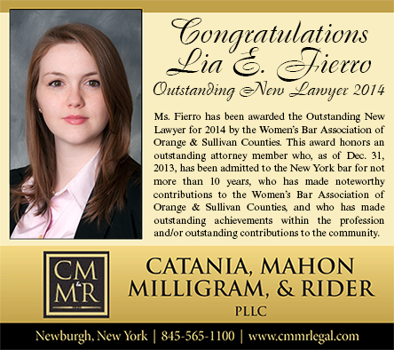 Congratulations Lia E Fierro Outstanding New Lawyer 2014
