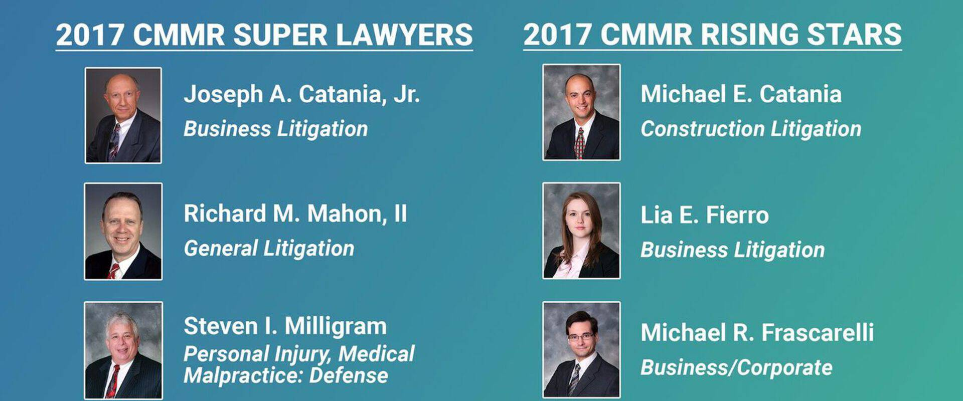 CMR congratulates its 2017 Super Lawyers and Rising Stars