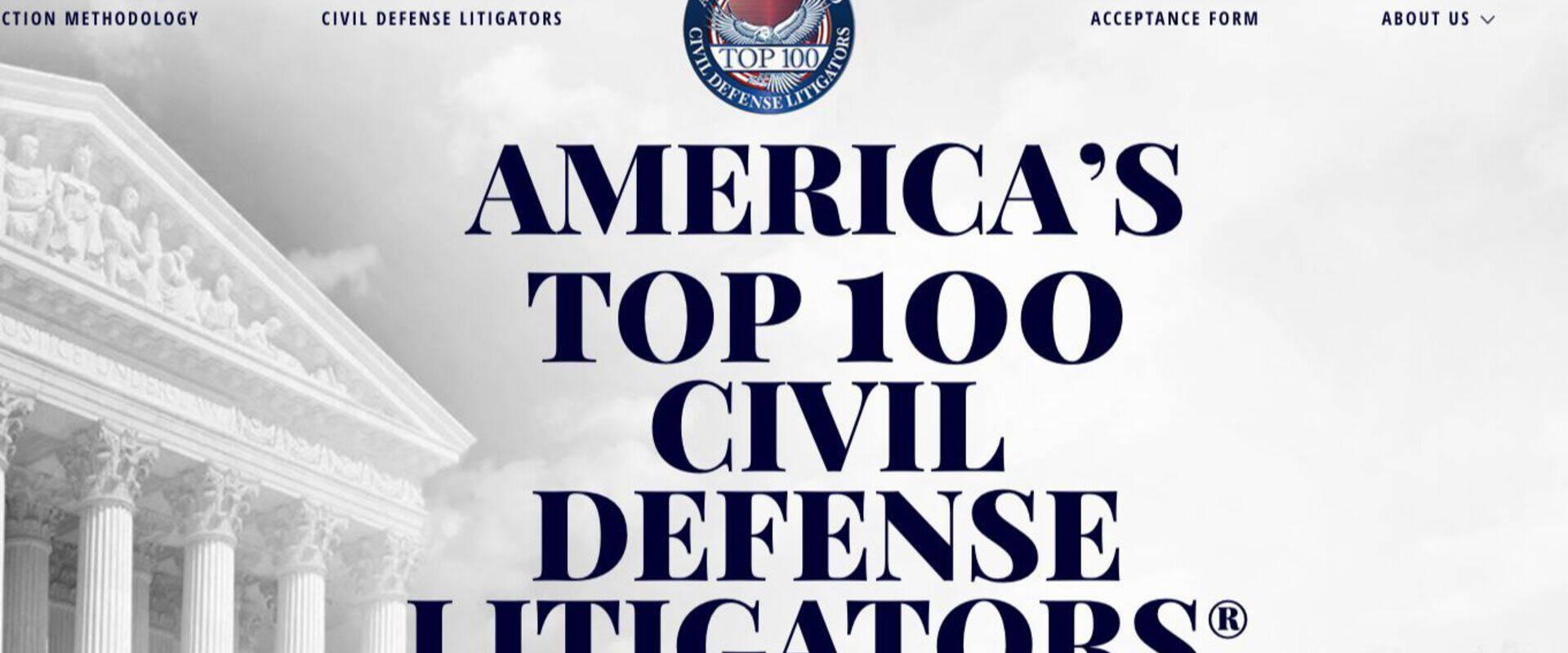 Michael E. Catania named one of America's 2018 Top 100 Civil Defense Litigators