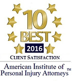 10 Best 2016 for Client Satisfaction - American Institute of Personal Injury Attorneys